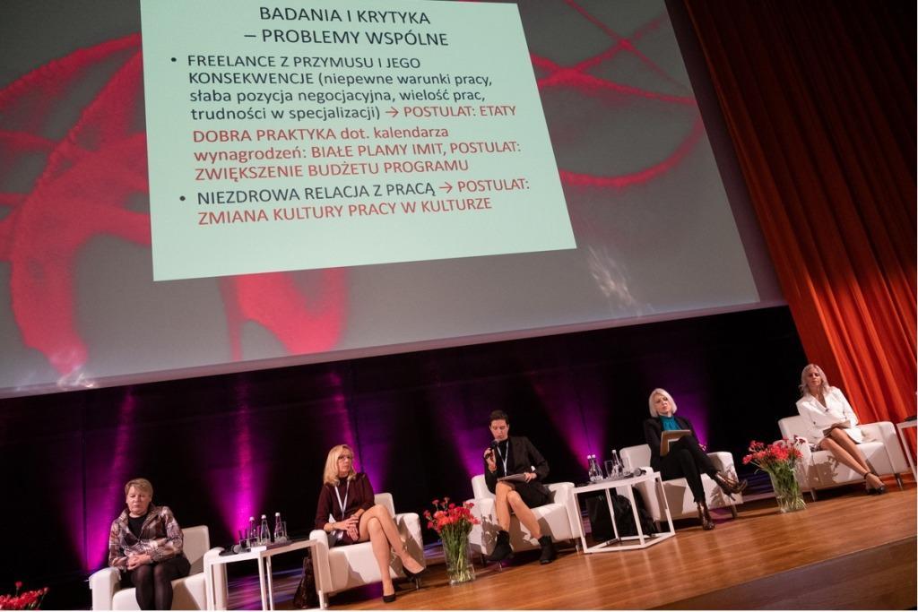 Hanna Raszewska-Kursa podczas wystąpienia na II Kongresie Tańca, fot. Marta Ankiersztejn dla Instytutu Muzyki i Tańca